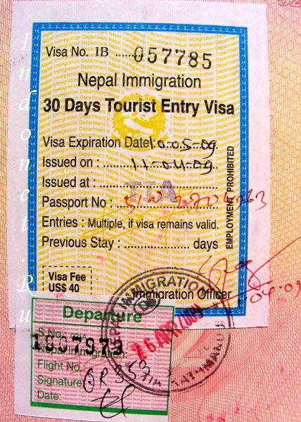 Непальская виза