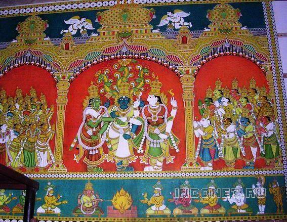 Мадураи, росписи храма Минакши