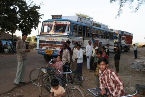 От Митрия: типичный индийский автобус в окрестностях г.Бхопал