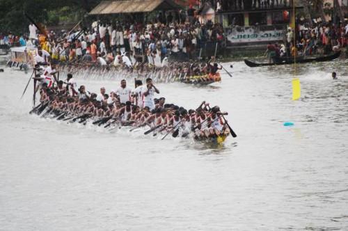 Конкуренты в финальной  гонке на лодках чампакулам, которые проводятся 450 лет. Фото: Dennis Marcus Mathew